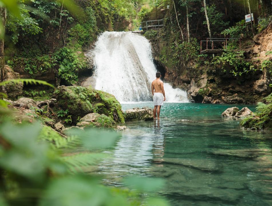 Blue Hole in Ocho Rios, Jamaica