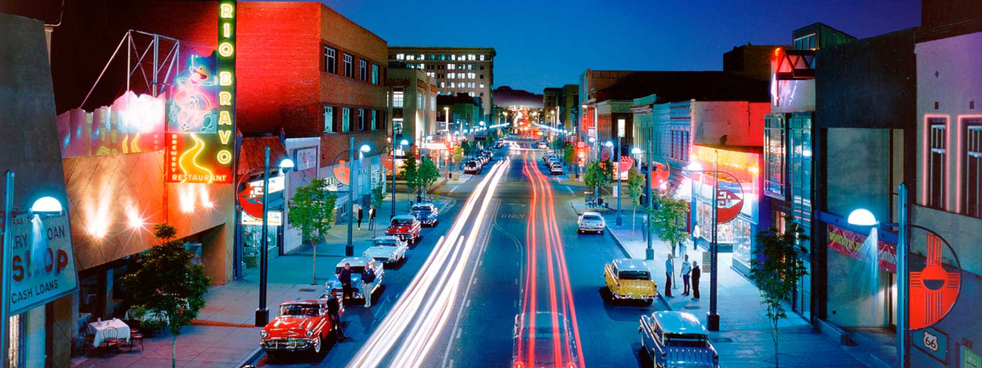 Route 66 in downtown Albuquerque