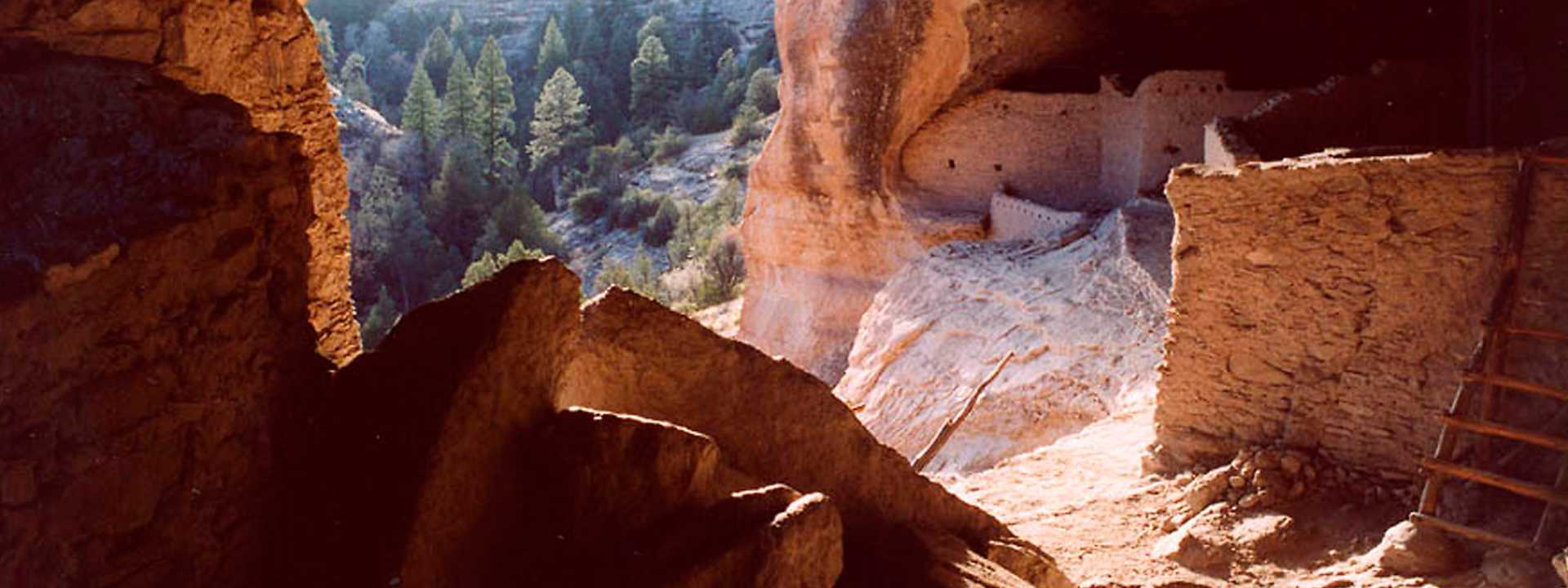The Gila Cliff Dwelling National Monument.