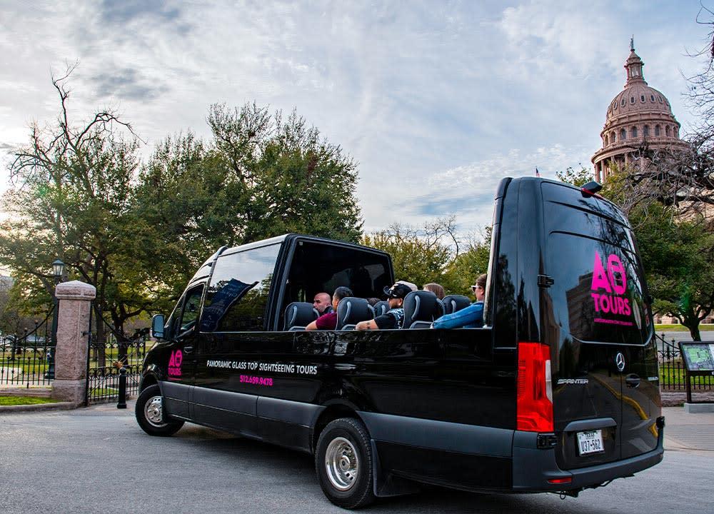 AO Tours Open Van Tour at the Texas State Capitol in Austin Texas