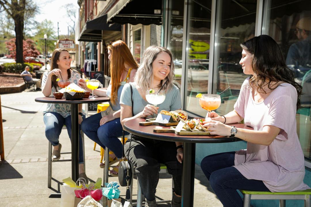 Bollywood Dining spring patio