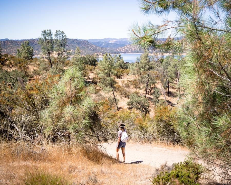 Hiking at Lake Nacimento