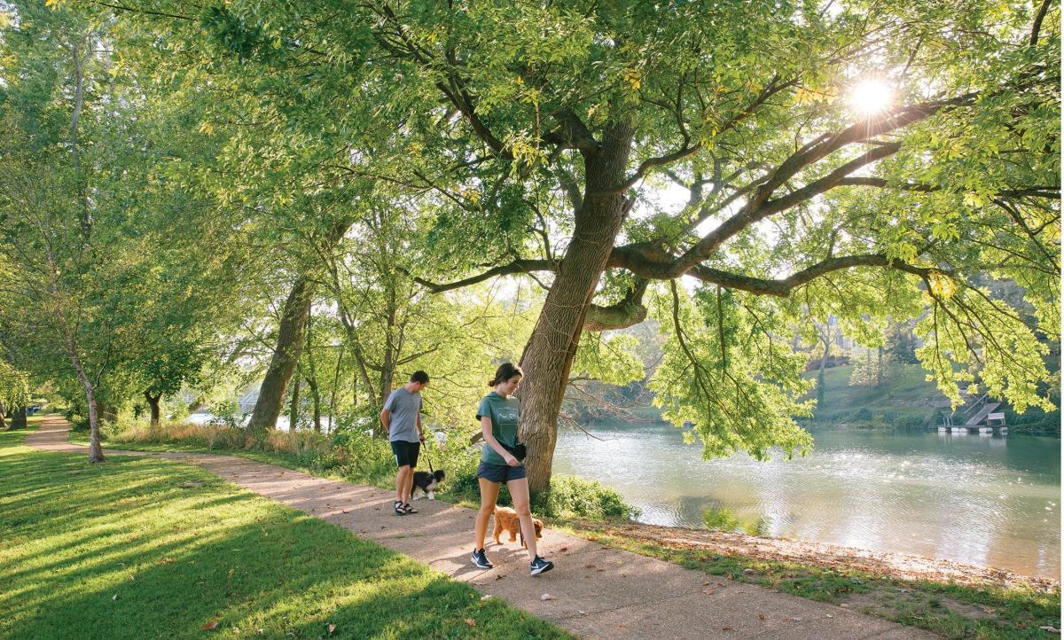 Finley River Park in Ozark, Missouri