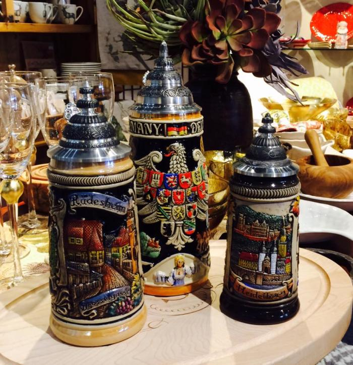 The Grasshopper sells a variety of German gifts, including beer steins