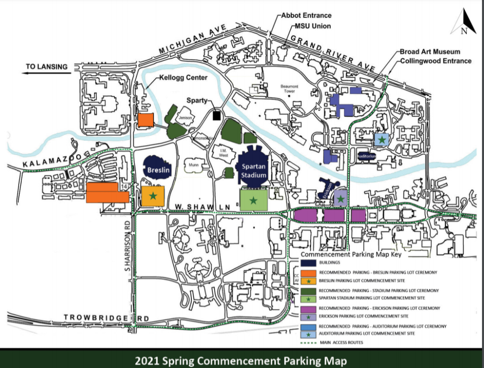 MSU 2021 Graduation Parking
