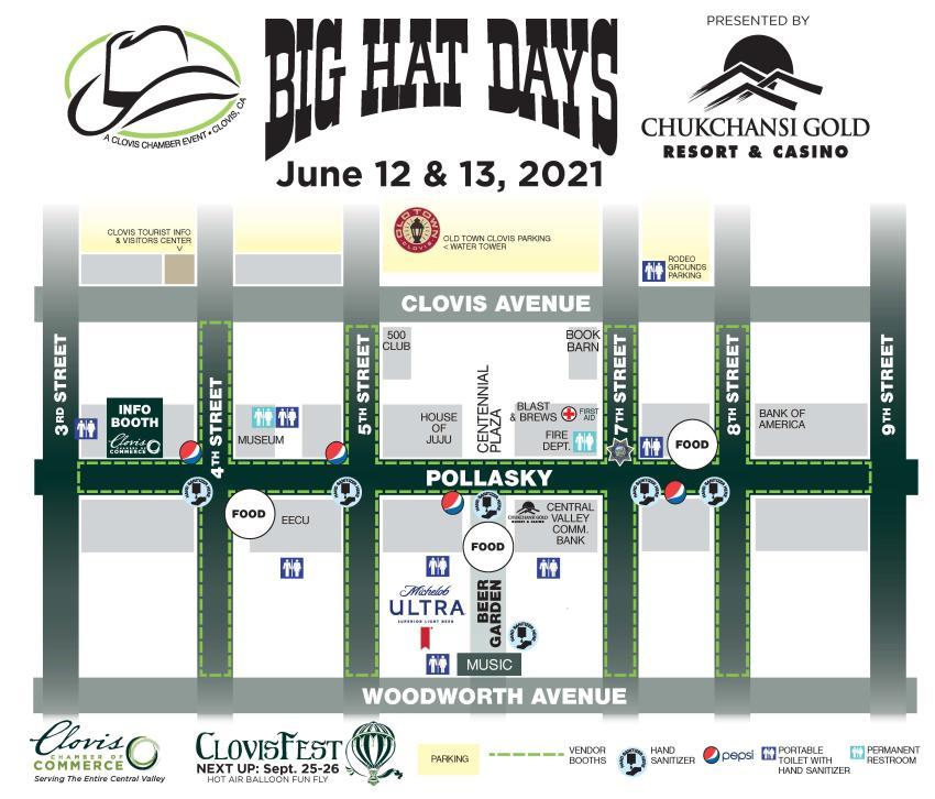 Big hat days map