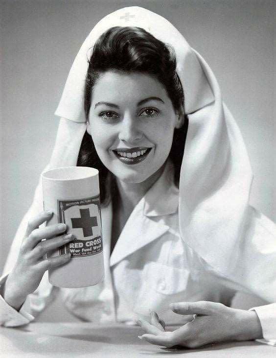 Ava Gardner Publicity - Red Cross