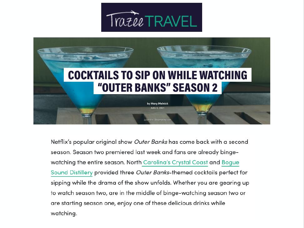 Trazee Travel Cocktails