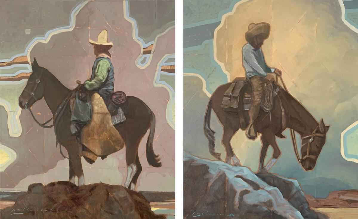 Two Paintings by Sean Michael Chavez: Grandes Alturas & El Borde, New Mexico Magazine
