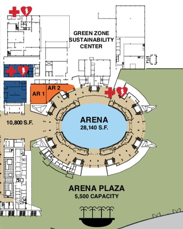 Anaheim Convention Center Arena Floor Plan