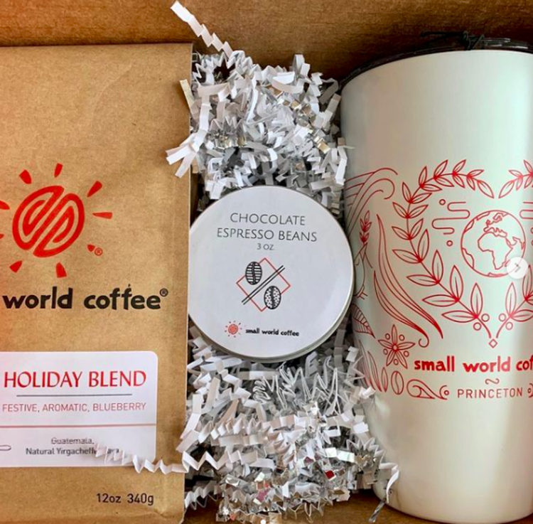 Gift shipment of coffee and chocolate from Small World Coffee in Princeton
