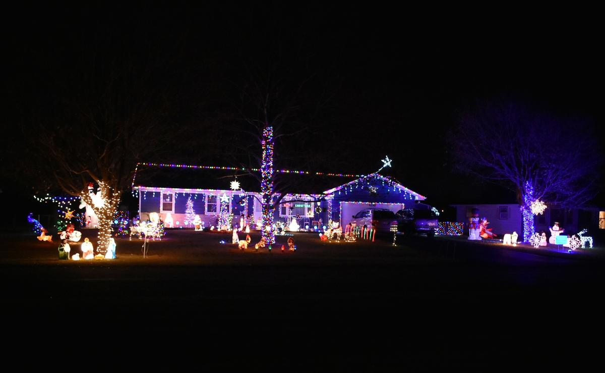 Kilbourn Drive House Light Display by Clayton Bishop