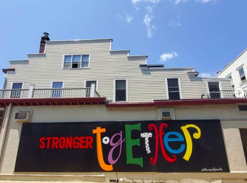 Arts Council Stronger Together Mural in Princeton