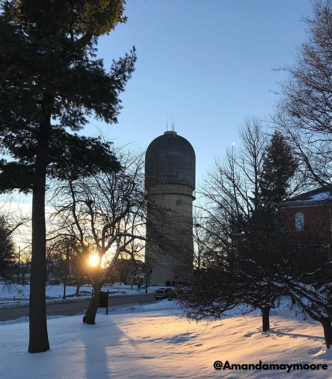 Ypsilanti Water Tower in Winter