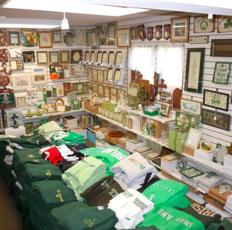 Store interior of The Cross and Shamrock in Hamilton, NJ
