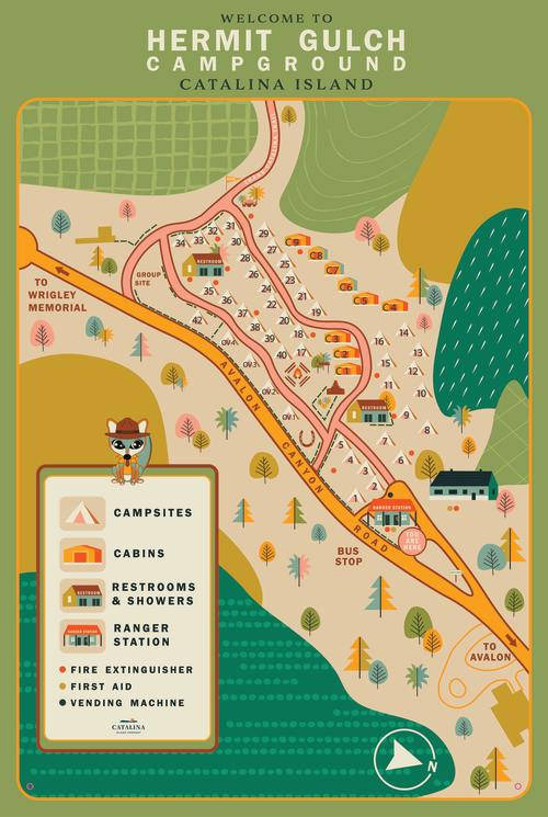 Hermit Gulch Campground Map