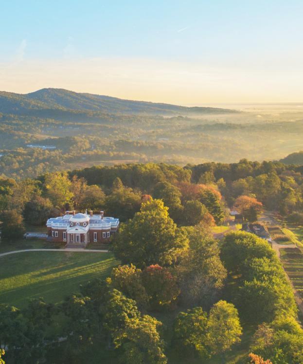 Aerial photo of Monticello