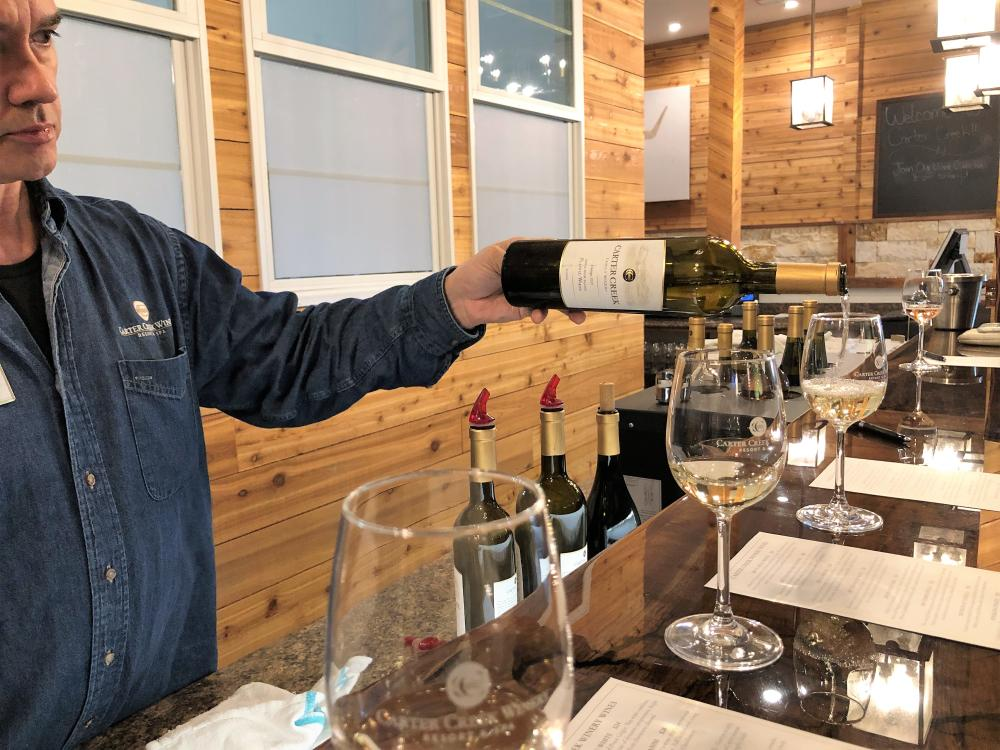 Wine Tasting at Carter Creek Winery Resort and Spa near Austin Texas