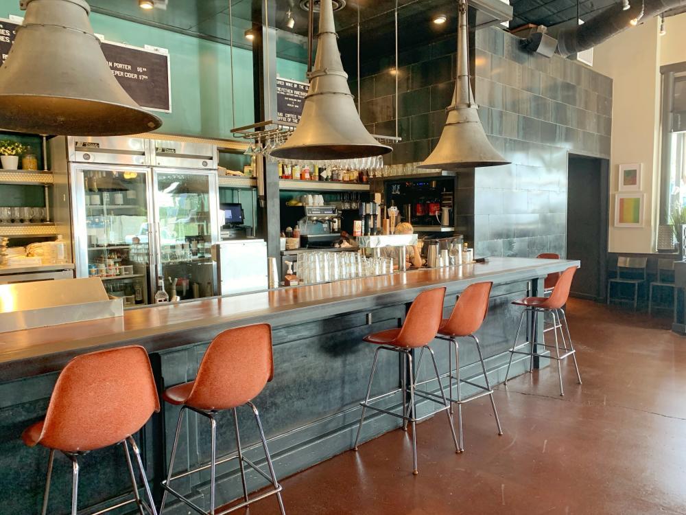 Bar counter at 24 Diner in AustinTexas
