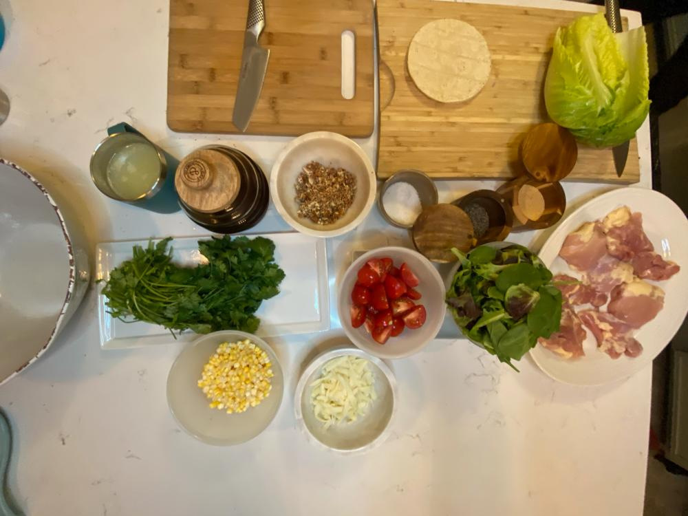 ingredients for Cilantro Lime Grilled Chicken with Ensalada Fresca recipe