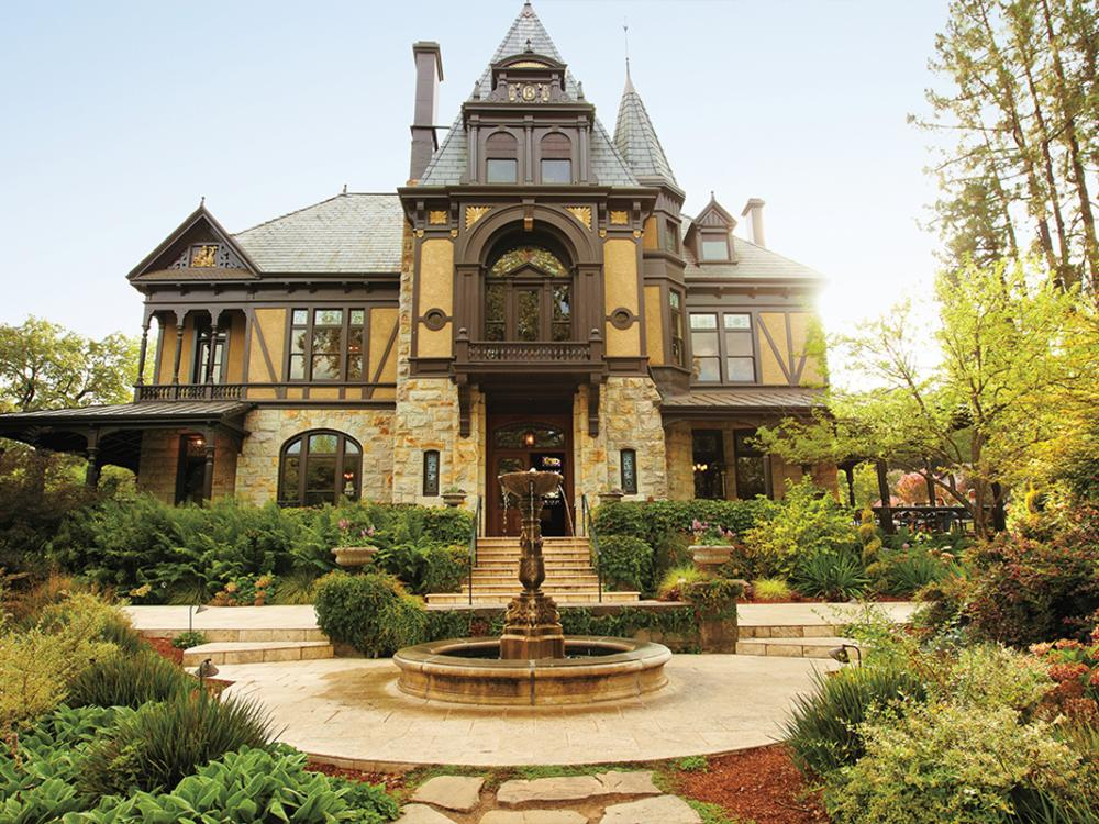 Rhine House at Beringer Vineyards is a stately building designed with old-world charm.