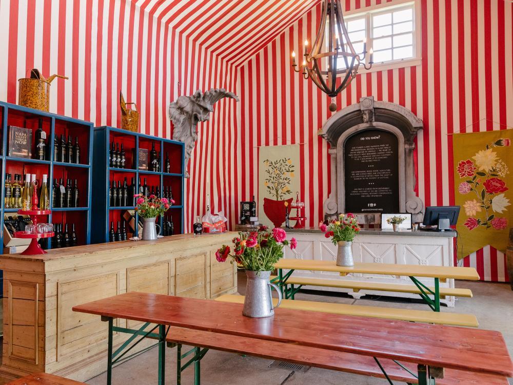 Interior of Swanson Vineyards tasting room in Napa Valley