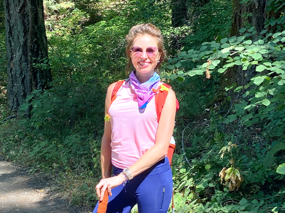 Pilates instructor Denise Henquet Sprengers explores Bothe Napa State Park near St Helena.