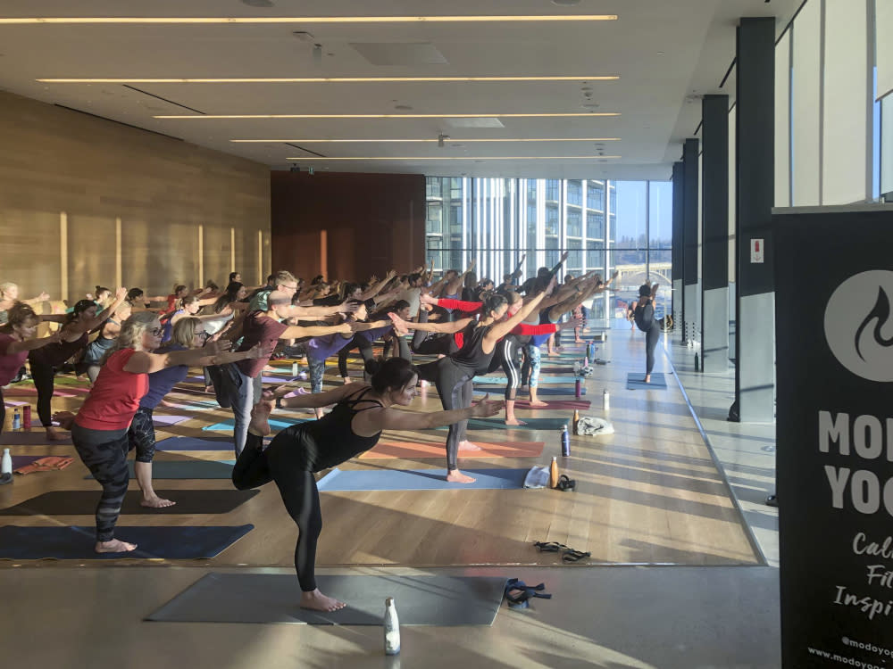 Riverview Wine & Yoga - Photo Credit Remai Modern