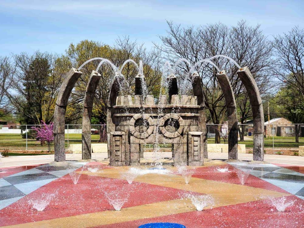 Water Playground at Evergreen Park Splash Pad