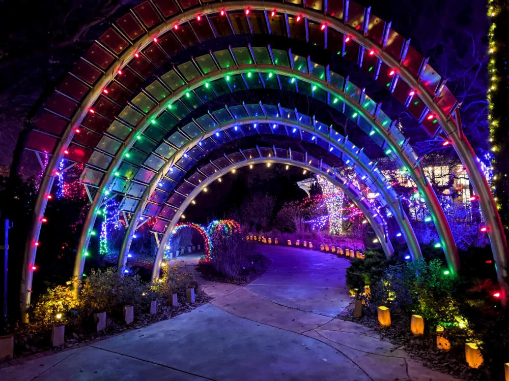 Children's Garden Entrance at Botanica Illuminations 2020
