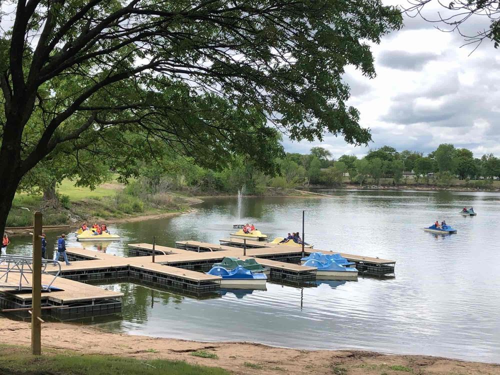 Pedal Boats at OJ Watson Park