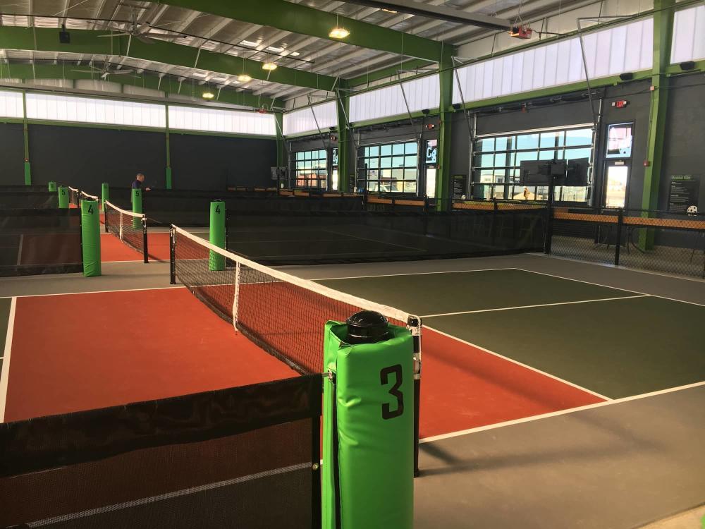Indoor Pickleball Courts at Chicken N Pickle in Wichita