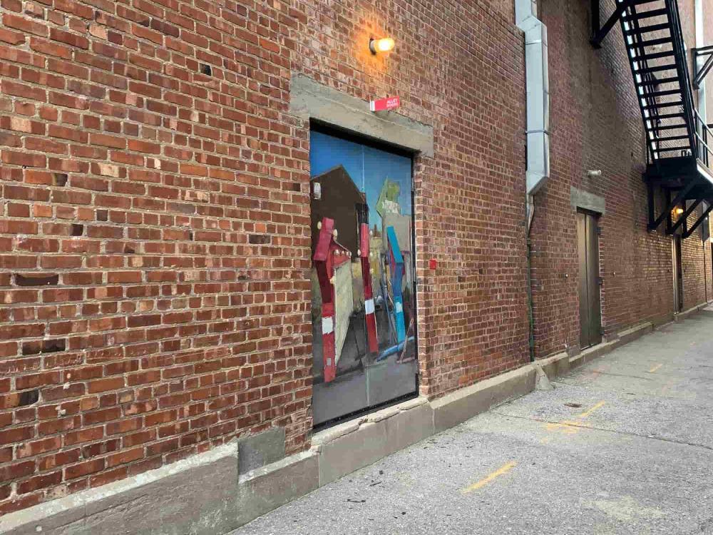 """Matthew Miller's Alley Door Installation """"Before the Wheel Blues"""""""