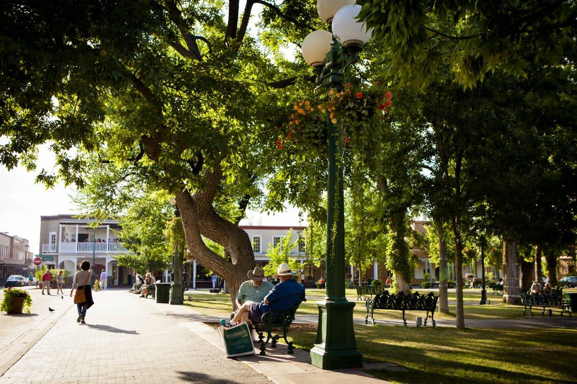 Men in park