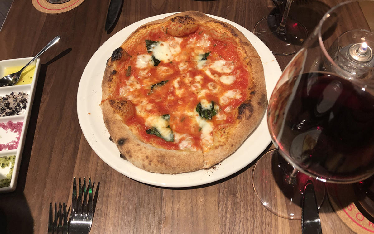 Pizza and Wine at Sorriso