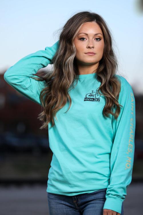 Light blue Katy trail long sleeve shirt by Local 636