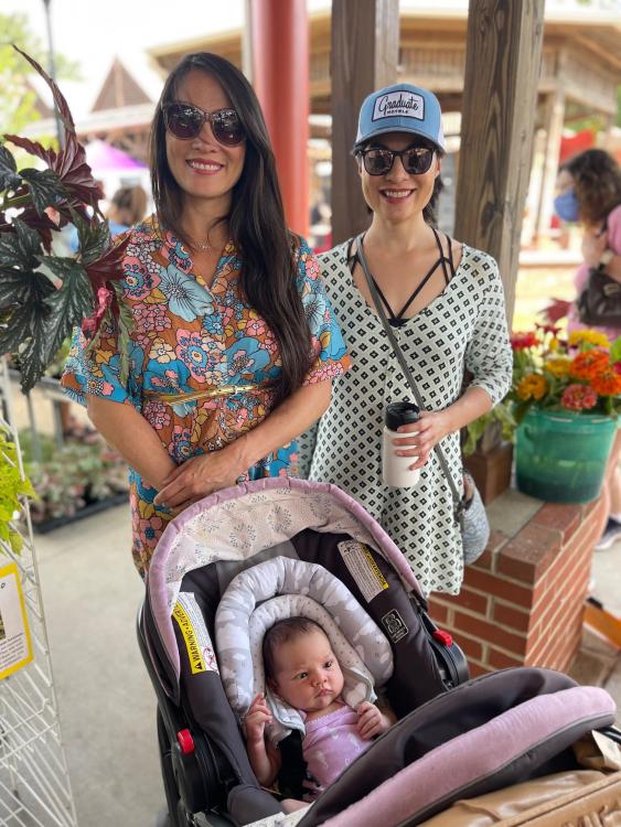 Maylin, Chela and Tiny Baby