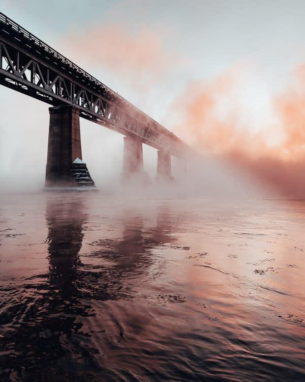 Train Bridge for winter photography