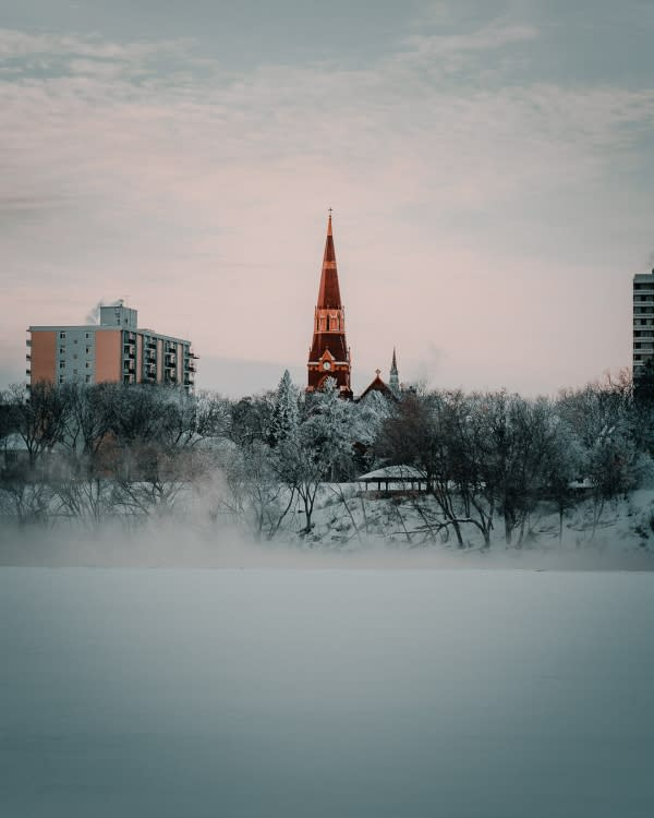 Church for winter photography