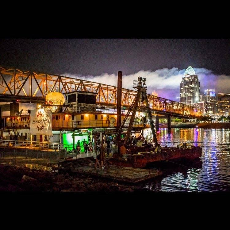 USS Nightmare with Cincinnati Skyline