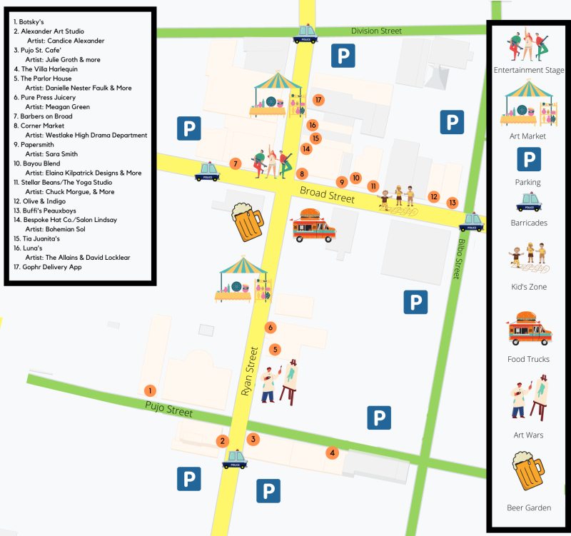Spring Art Walk 2021 Map