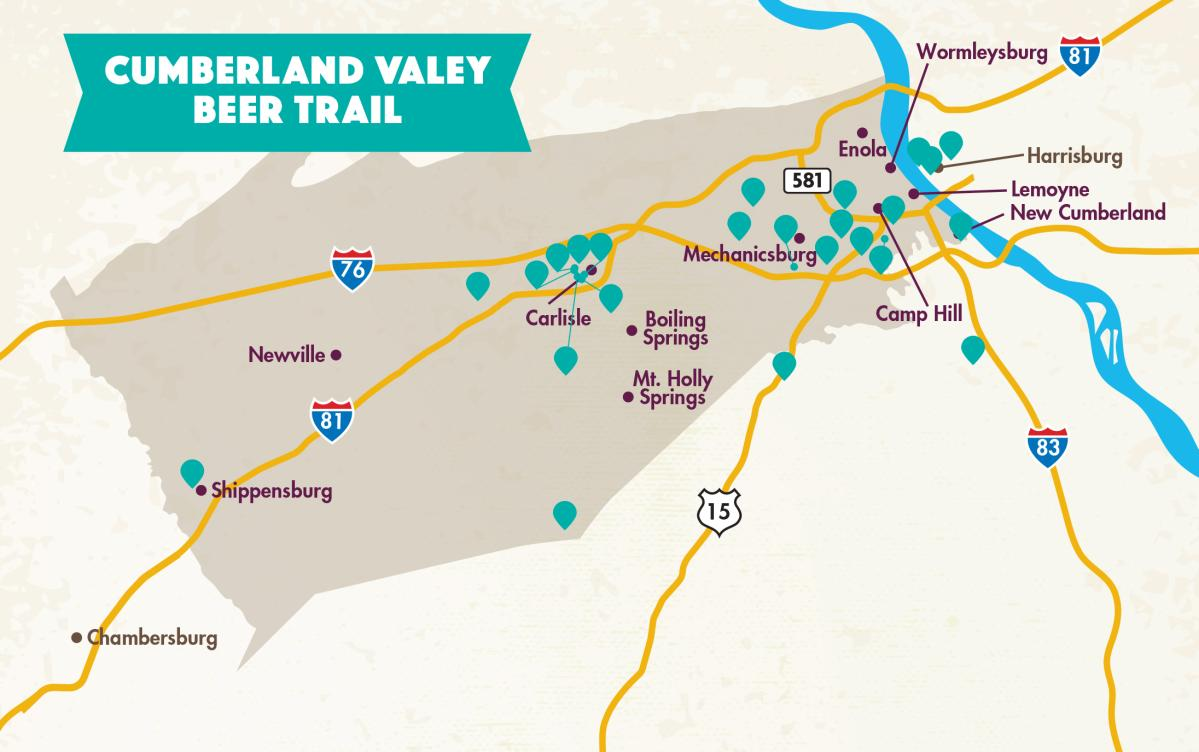 Beer Trail Map 2021