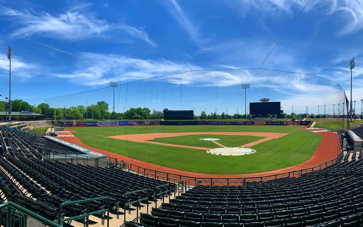 Dow Diamond, baseball diamond for the Great Lakes Loons, on a beautiful summer day in Midland