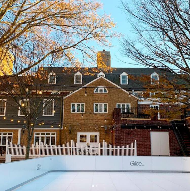 Palmer Square's Outdoor Glice Skating Rink in Princeton, NJ.