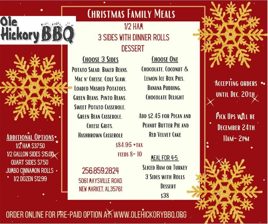 Ole Hickory BBQ Christmas