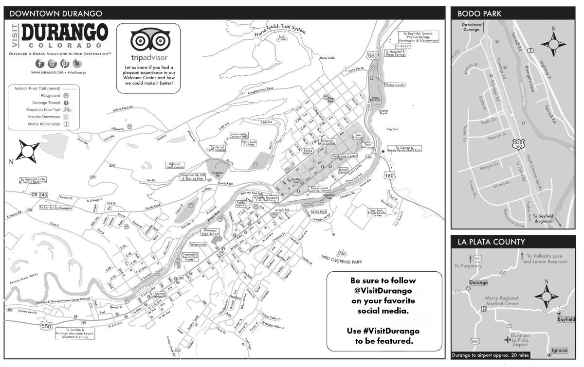 Durango City Map