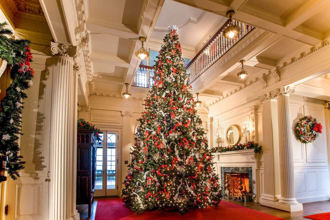 Christmas At Blithewold Mansion Discover Newport Rhode Island