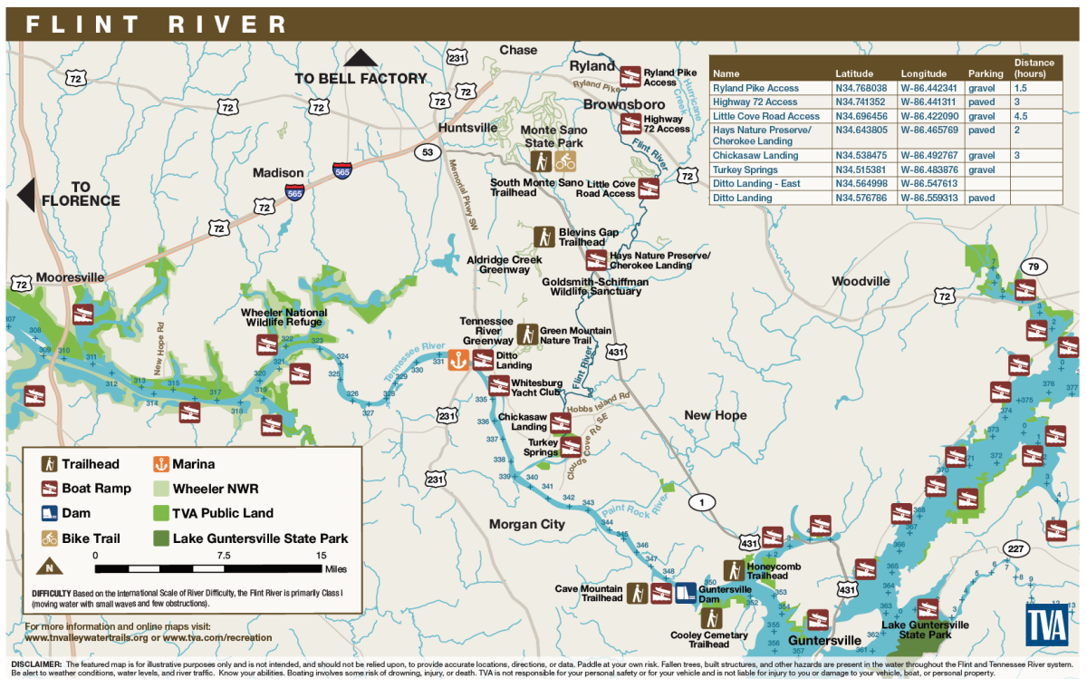 TVA Map of Flint River