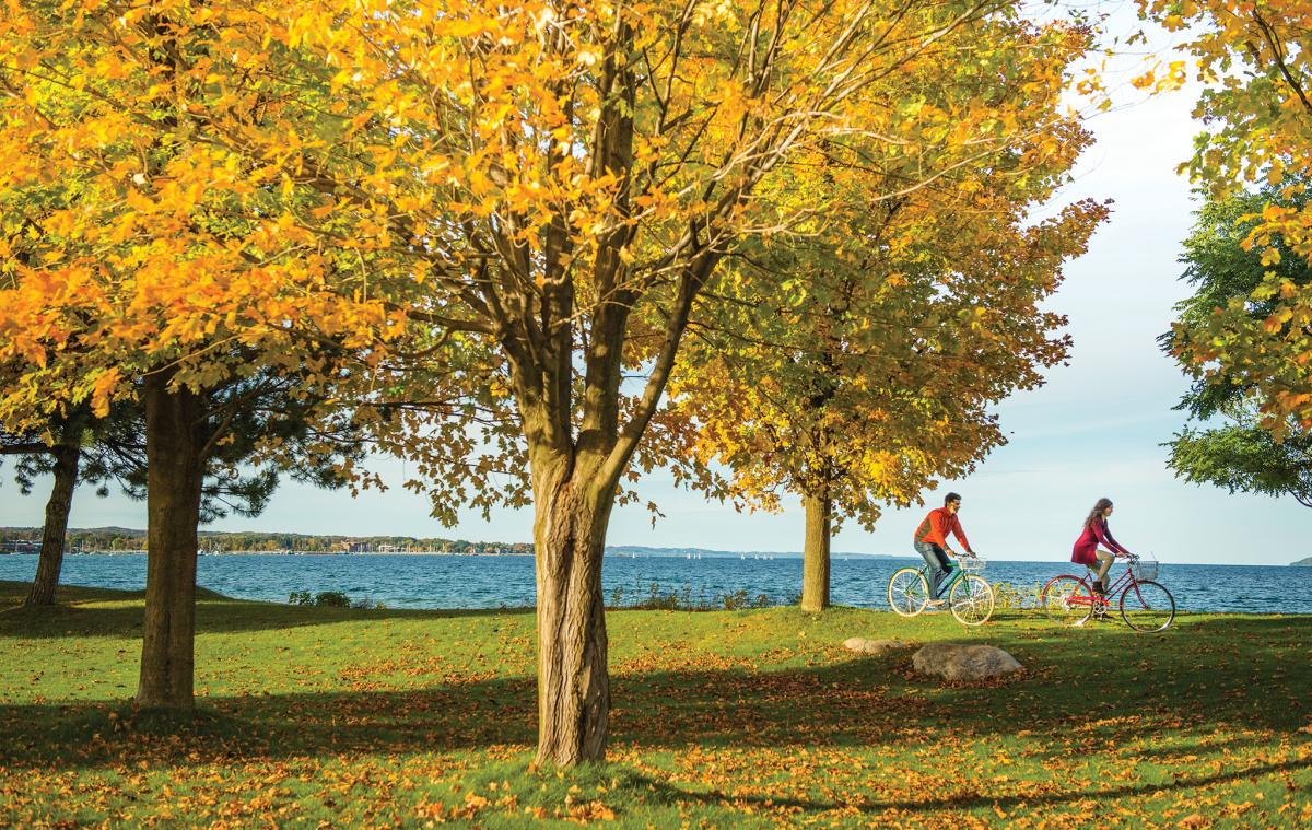 Clinch Park Fall Bikers