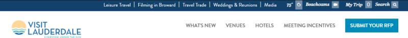 Fort Lauderdale Website navigation